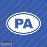 Pennsylvania PA Oval Vinyl Decal Sticker