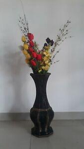 Ceramic Vase Tall Flower Vintage Flowers Design 1 Made Floral
