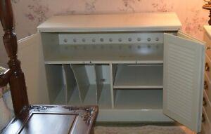 Ethan Allen media cabinet storage cabinet white