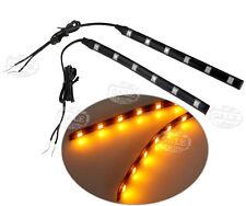 2 X Universal Amber LED Motorcycle Strip Turn Signal Indicator Blinker Light 12V