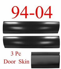 94 04 Chevy S10 3Pc Door Skin Bottom Kit, GMC Sonoma, Front Left & Right & 3rd