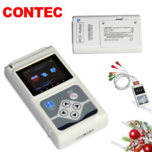 CE 24 Hours 3 Channel ECG/EKG Holter/recorder Monitor/System TLC9803,PC Software