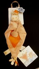 Doudou Zèbre Zamba NOUKIE'S Plat Triangle Marionette Beige Orange NEUF