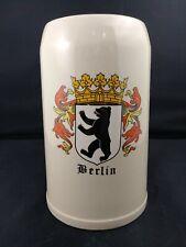 1 Liter German Beer Stein, Berlin
