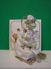 LENOX  MERRY GRINCHMAS TO ALL Grinch Ornament NEW in BOX with COA