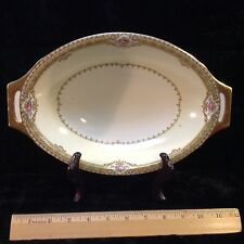 """Meito China Annette Oval Vegetable Serving Bowl 11 1/4"""""""