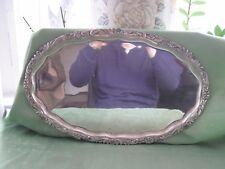 Wunderschönes großes 800er Silber Tablett, Handgeschlagen