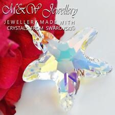 925 Silver Large Pendant Crystals from Swarovski® * STARFISH * 28mm - CRYSTAL AB