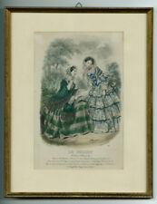 Handkolorierter Kupferstich LE FOLLET COURRIER DES SALONS 1860er, 19. Jh.