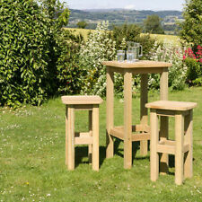 Unbranded Wooden 3 Pieces Garden & Patio Furniture Sets