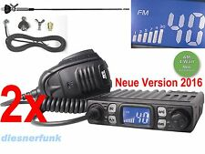 2x SPEDITON SET TEAM CB MOBILE MiniCOM V2 CB Funk SET 4W AM/FM & DV27 T Antenne