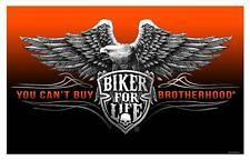 DELUXE BIKER FOR LIFE YOU CAN'T BUY BROTHERHOOD EAGLE 3X5 FLAG FULL SIZE FLAG