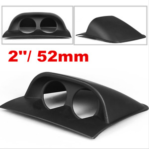 Universal Black 2in 52mm Car Motor Dual Hole Dash Gauge Pod Mount Holder ABS