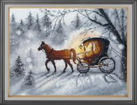 Counted Cross Stitch Embroidery Kit 1188 An Evening Walk by Oven
