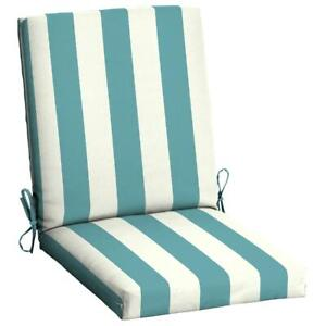 Mainstays Outdoor Chair Cushions High Patio Turquoise Cabana Stripe