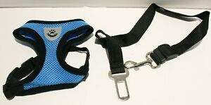 Invenho Soft SMALL BREED Mesh Reflective Adjustable Dog Harness w/Seat Belt Clip