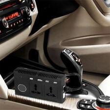 12V DC à 220V AC 200W Voiture Convertisseur USB Chargeur Cigarette Plus Léger