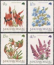 Hungary 1992 Flowers of Australia/Milkwort/Desert Pea/Plants/Nature 4v (n45822)