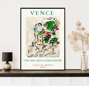 Marc Chagall Vence Poster, Vintage Gift, Wall Art Decor Print