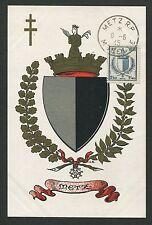 FRANCE MK 1945 WAPPEN METZ BLAZON MAXIMUMKARTE CARTE MAXIMUM CARD MC CM d4535
