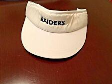 """Oakland Raiders * RAIDER NATION White VISOR W/ STITCHED """" RAIDERS """" NEW ONE SIZE"""