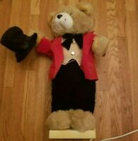"Vintage Telco Motion-ettes of Christmas Bear 24"" Vintage Decoration"