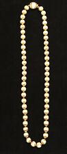 "Vintage estate signed Monet strand of etched gold tone beads 25""necklace"