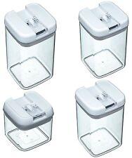 4er Set Vorratsdose Easy Lock Verschluss Vorrats Behälter Dose Kunststoff NEU
