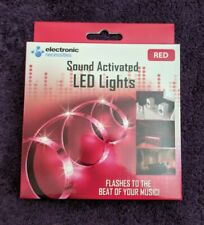 1M Sound Activated LED Lights - Color Red