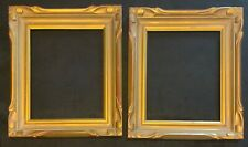 """Pair of 8"""" by 10"""" antique plein air style picture frames."""