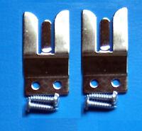 2 MICROPHONE HOLDER FORK CLIP - 2 WAY TAXI RADIO CB MC1