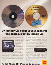 PUBLICITE ADVERTISING  1993    KODAK   photo   lecteur  CD  l'image de demain
