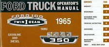 1965 65 FORD TRUCK OWNER'S  MANUAL- F100-F350