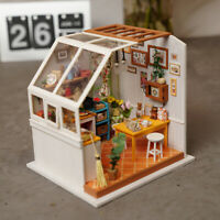 ROBOTIME DIY Kitchen Doll House with Miniature Room Toy Gift for Children Girls