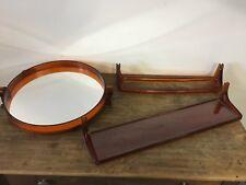 Miroir accessoires de salle de bain vintage rétro orange
