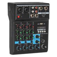 Tragbarer Audio Mixer Professionelle 4 Kanal Bluetooth Mixer DJ Konsole mit Q7U7