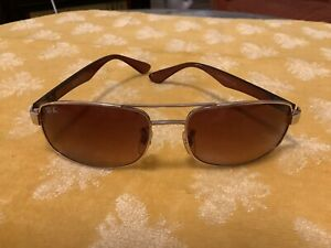 Ray Ban RB3445 sunglasses brown lens Made in Italy