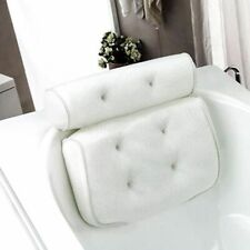 Spa Non-Slip Bath Pillow Cushioned Bathtub Head Rest W/ Suction Cups For Neck