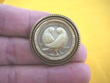 (cs7-1) DOVES bird CAMEO Pin Jewelry brooch PENDANT necklace I love dove birds