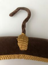 MUSHROOM BROWN LUXURY PADDED UNUSED VINTAGE VELVET DRESS/GARMENT/COAT HANGER
