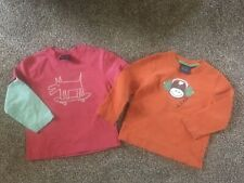 Mini Boden Lot Of 2 Boys Long Sleeve T-shirts Size 2-3 Play Condition