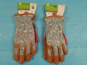 Style Selections 495721 Womens Medium Leather Garden Gloves-Lot of 2