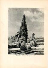 Stampa antica IMBERSAGO MOMBELLO Villa FALCO' Brianza Lecco 1931 Old print