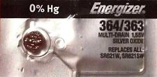 1 NEW ENERGIZER SR621SW 364/363 Silver Oxide 1.55v Watch Batteries Aussie Stock