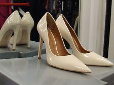 Cecille BNIB UK 4 Exquisite Stiletto Heels Patent Cream Leather Eve Shoes EU 37
