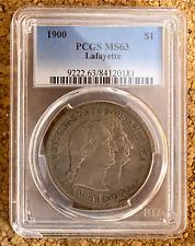 1900 US Silver $1 Commemorative Lafayette Dollar - PCGS MS63