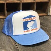 Evinrude Bass Buster Boat 80s Vintage Trucker Hat Snapback Ocean Beach Fishing