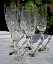 Service de 6 flûtes à champagne en cristal, Les grands ducs