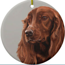 Irish Setter Dog Ornament - Personalize with Name - Great as Christmas Gift!