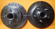5547 Performance Brake Rotor Drilled & Slotted ZINC Coated Front Pair for S10